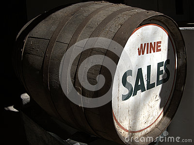 Wine sales barrel