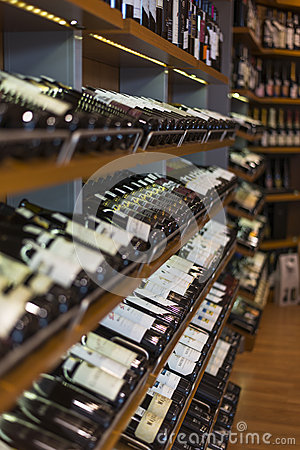Wine Shop Editorial Stock Image