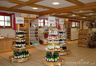 Wine shop Editorial Stock Photo