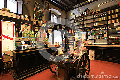 Wine shop in Rome Editorial Photo