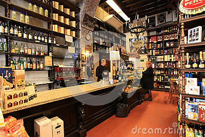Wine shop in Rome Editorial Stock Image