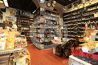 Wine shop in Rome Editorial Stock Photo