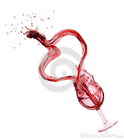 WIne splash with heart