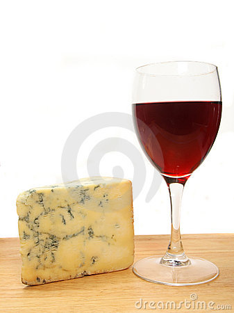 Wine and stilton