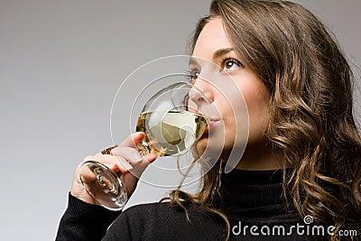 Wine tasting beauty.