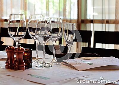 Wine Tasting Setup
