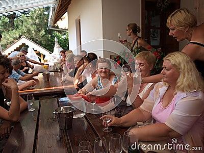 Wine tasting, Sremski Karlovci, Serbia Editorial Image