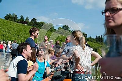 Wine Tour in Obertürkheim near Stuttgart, Germany Editorial Image
