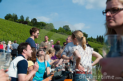 Wine Tour in Obertürkheim near Stuttgart, Germany Editorial Image