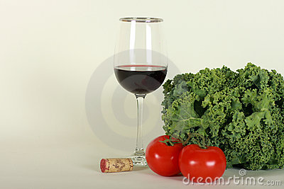 Wine and vegetables