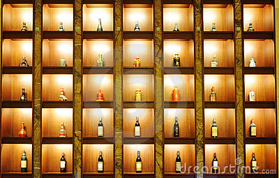 Wine , whisky, chinese liquor in the shelf Editorial Photography