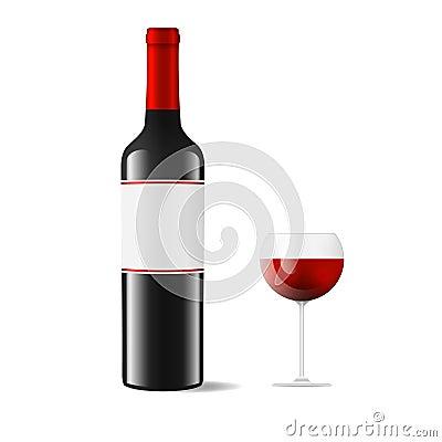 Wine and wineglass