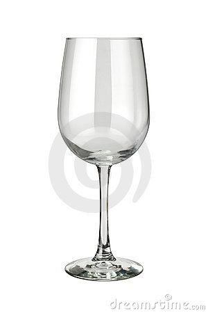 Wineglass isolated