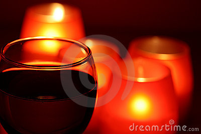 Wineglass and candles