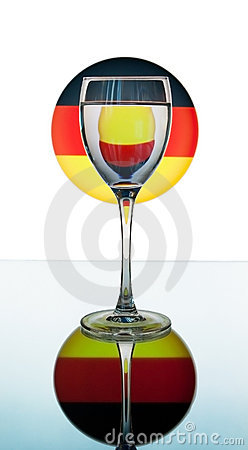 Wineglass on the German flag