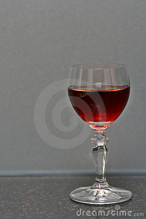 Wineglass on granite bench