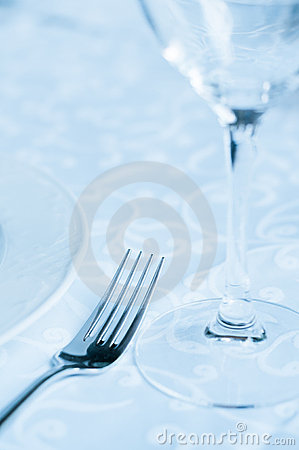 Wineglass on the table