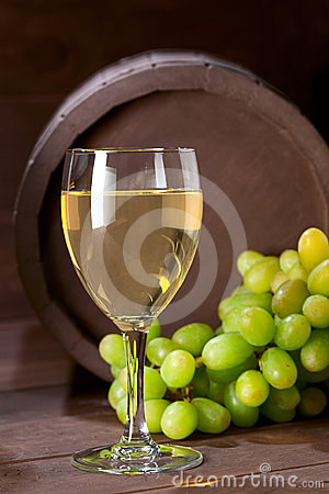 Wineglass of vine