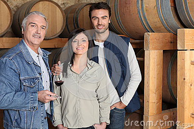 Winemaker giving a tour