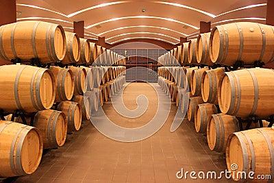Winery barrels