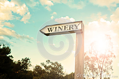 Winery sign, vintage