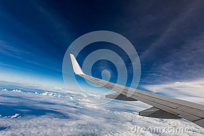 Wing of an airplane