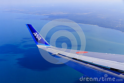 Wing Of An ANA Airplane Stock Photography - Image: 24649882