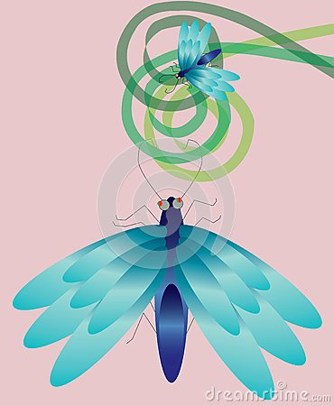 Wing blue insect