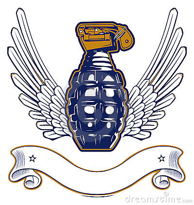 Wing grenade emblem