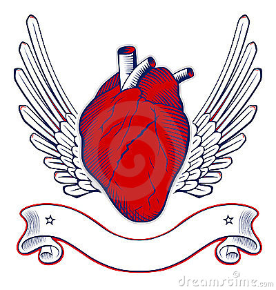 Wing heart emblem