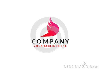 Wing Logo Template vector icon design Vector Illustration