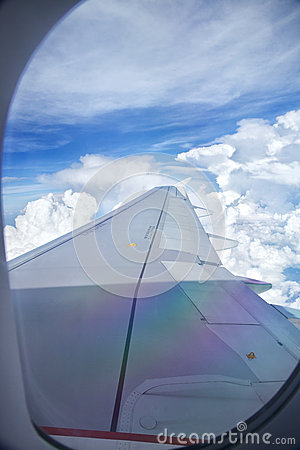 Wing of plane stock image image 30993091 Airplane cabin noise