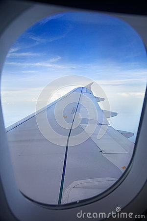 Wing of plane stock photography image 30993462 Airplane cabin noise