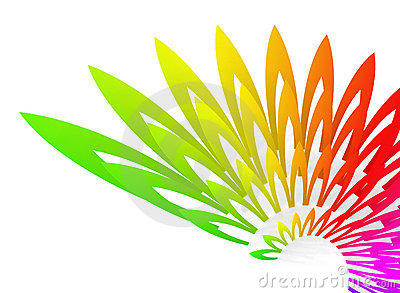 Wing-shaped colorful geometric abstract