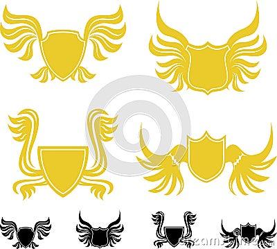 Wing shields set