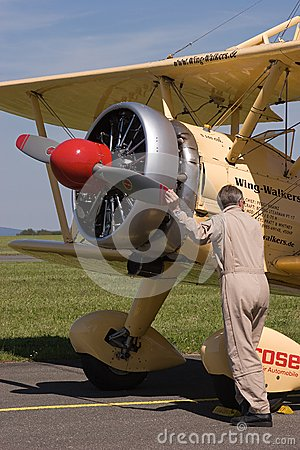 Wing walking - Boeing Stearman E 75 Editorial Photo