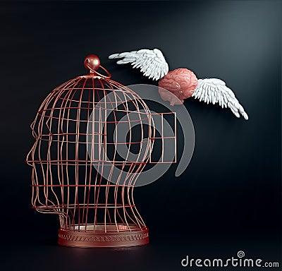 Free Winged Brain Royalty Free Stock Photo - 24076365