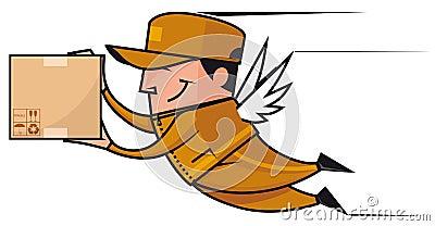 Winged deliveryman