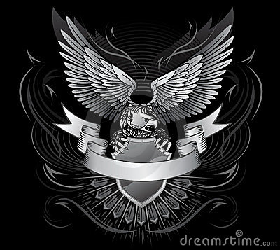 Winged Eagle Black and White