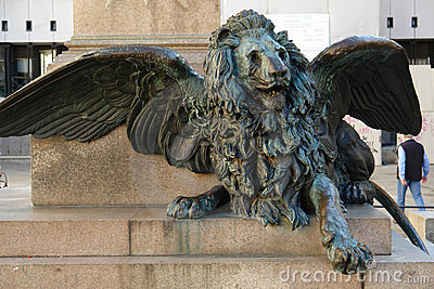 Winged lion