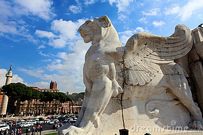 Winged Lion Editorial Stock Image