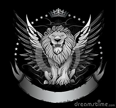 Winged Lion Badge or Crest