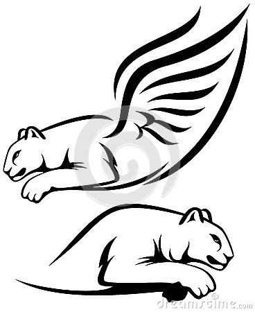Winged lions design