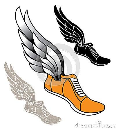 Free Winged Track Shoe Stock Image - 49002691