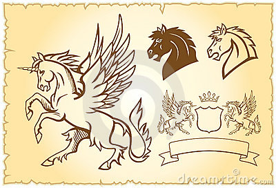 Winged unicorn illustration