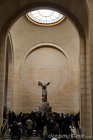 Winged Victory of Samothrace at Musée du Louvre Editorial Photo