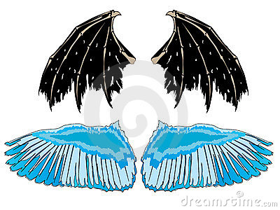 Demonic Angel Tattoos on Home   Stock Photography  Wings Angel Demon