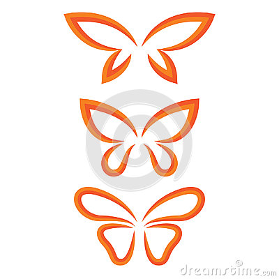 Wings butterfly set Vector Illustration