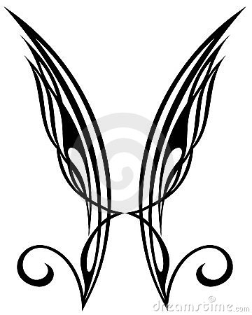 Wings. Tattoo design elements