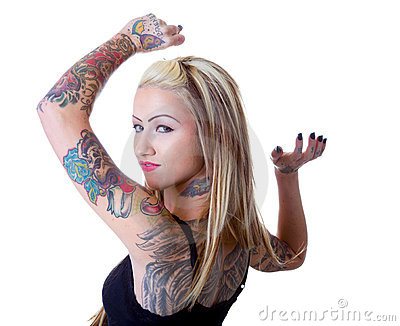 Wings Of A Tattoo Girl